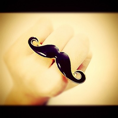 #moustache #ring 😁 (Taken with Instagram)