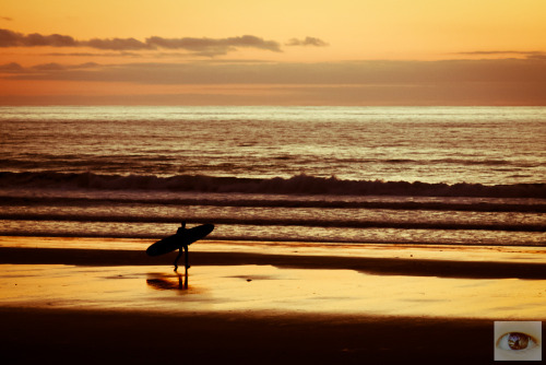 Early morning surfing.
