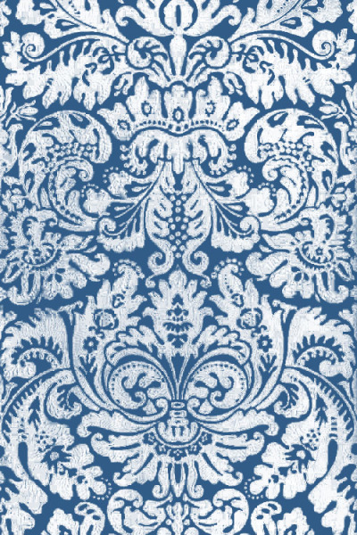 cobalt damask (via thefullerview)