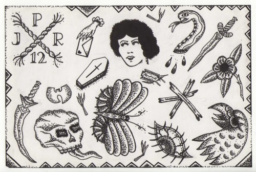 j-p-reilly:  J P Reilly. Stipple Flash. I did this tiny flash sheet last night. I'm really into doing these little stipple drawings.