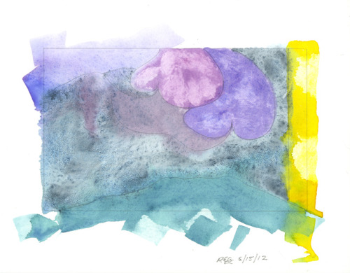 Reg Darling, watercolor journal, 6/15/12
