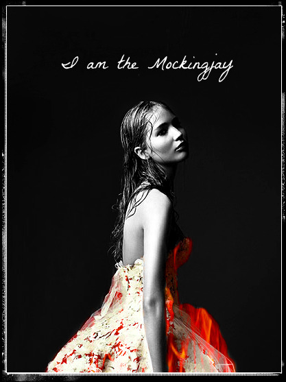"makingknots-makingknots:  ""I am the Mockingjay""  my girlfriend makes awesome graphics and doesn't afraid of anything!"
