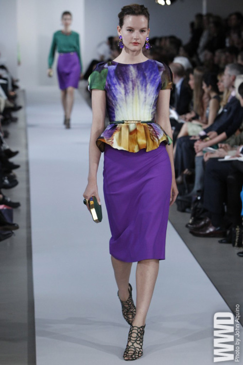 womensweardaily:  Resort 2013: The Trends PEPLUM PROCESSION: Oscar de la Renta Resort 2013