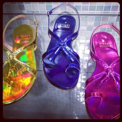 Holographic sandals @stuart_weitzman #resort. I need a pair for today! ML (Taken with Instagram)