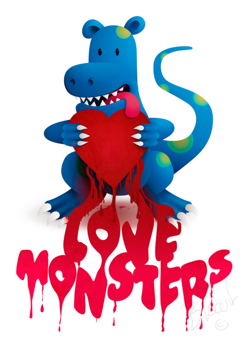 eatsleepdraw:  'Love Monster' - Copyright, All rights reserved. twitter | facebook | flickr | blog | etsy | society6