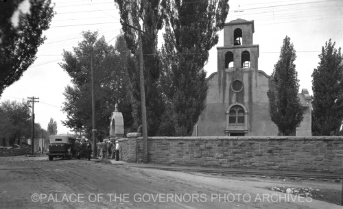 Guadalupe Church Santa Fe, New Mexico - ca 1935 Photo By: T. Harmon Parkhurst Negative #010038