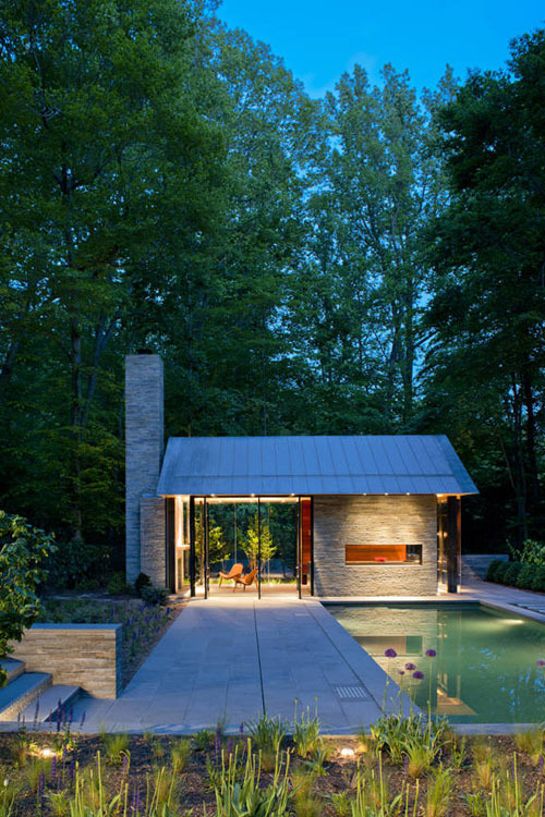 (via Nevis Pool & Garden Pavilion by Robert M. Gurney Architect | Daily Icon)