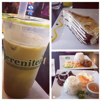 Serenitea + Mango Bravo + Tapsi= happy tummy! :) (Taken with Instagram)