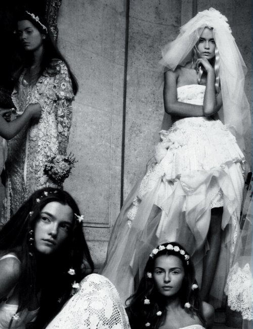 Natasha Poly, Vlada Roslyakova, and Valentina Zelyaeva by Patrick Demarchelier for Vogue Paris April 2006