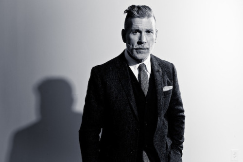 gqfashion:  The GQ&A: Nick Wooster's Next Chapter Nick Wooster might be known as the alpha male of American street style, what with the countless blogs dedicated to his perfectly fitted suits, love of all things camouflage, and serious salt-and-pepper facial hair, but the guy has a day job.