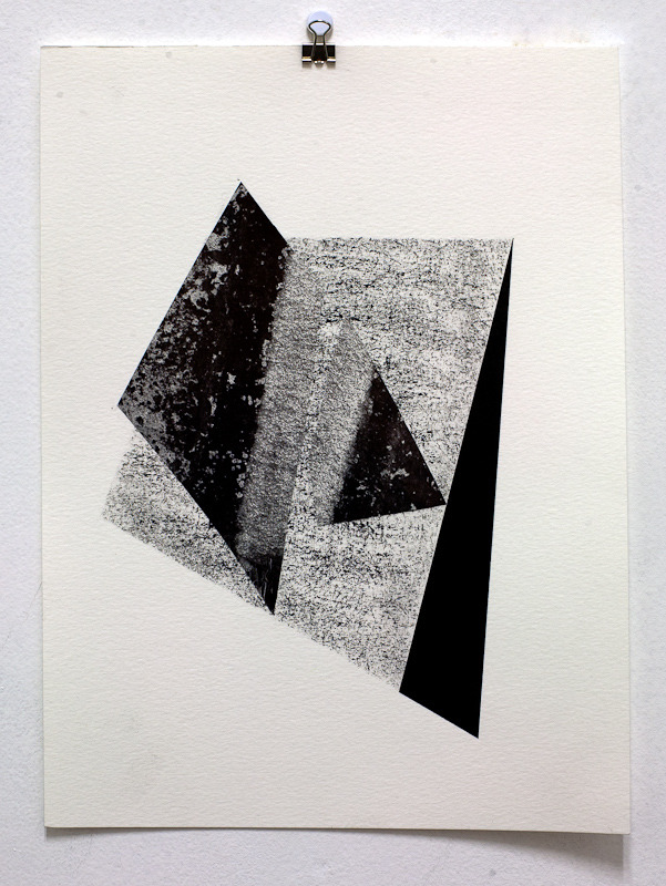 From the Studio: Ink and Shear, 12-1/8 x 9 inches, ink and Ansel Adams reproduction on paper