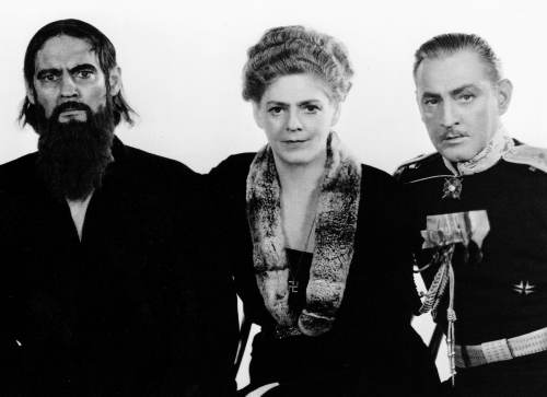 Portrait of Lionel, Ethel, and John Barrymore for Rasputin and the Empress, 1932 'As I looked at them through the camera', wrote Clarence Bull in 1968, 'I got the shock of my life. They all looked alike. All looked alike no matter how I posed them.  The bond between them was both amazing and frightening.'