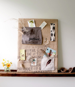 nights-in:  DIY recycled inspiration board, via Design Sponge