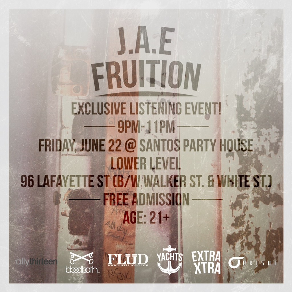 * Friday 6.22.12 @JAEYachts Listening Party @ Santos, NYC . Music by @ehTMills . .. 9p-11p .