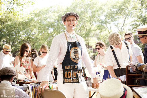 Matt Fox, shopkeeper at FineAndDandyShop.com at the Jazz Age Lawn Party photographed by Rose Callahan on Governor's Island, NY, June 16, 2012 from The Dandy Portraits