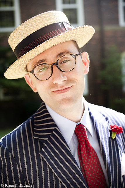 Matthew Karl Gale at the Jazz Age Lawn Party photographed by Rose Callahan on Governor's Island, NY, June 16, 2012 for The Dandy Portraits