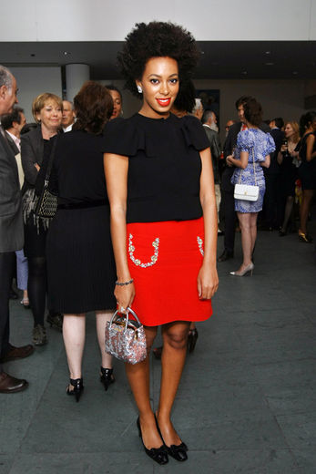 Le Look Du Jour: Solange Knowles attends the MoMA PS1 Gala Benefit 2012 at MoMA.