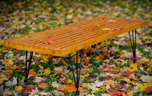 (via How to: Make a DIY George Nelson-Inspired Outdoor Slat Bench » Man Made DIY | Crafts for Men « Keywords: mid-century, wood, woodworking, diy)