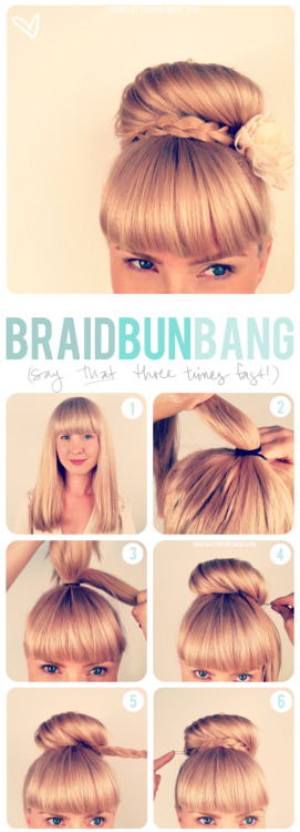 modcloth:  I struggled this spring trying to incorporate my bangs into a wedding updo. This tutorial is awesome, plus I love any style with a braid! (via the beauty department) <3 Amy, ModStylist Need styling suggestions, trend tips, or dress details? Ask a ModStylist and your question might be featured on our feed!  Just going to pretend this isn't for a wedding. IT'S NOT LIKE I DON'T OVERDRESS IN MY EVERY-DAY LIFE ANYWAY.