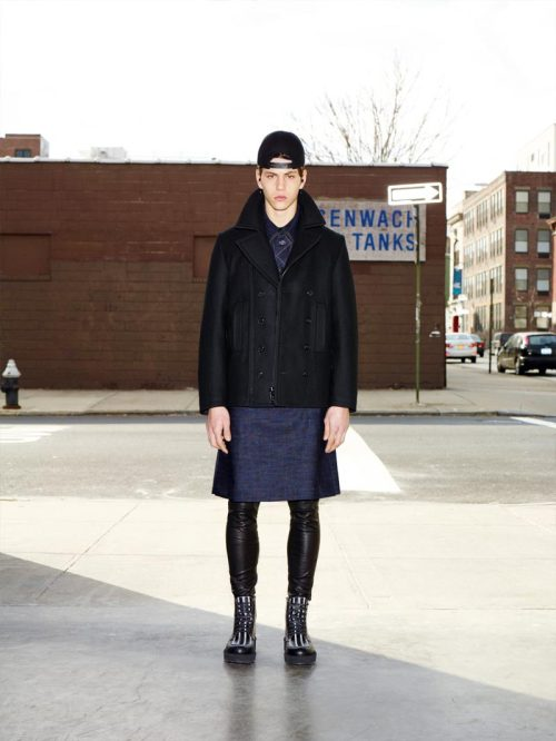 Simone Nobili in Ricardo Tisci's first pre-fall collection for Givenchy. (2012)