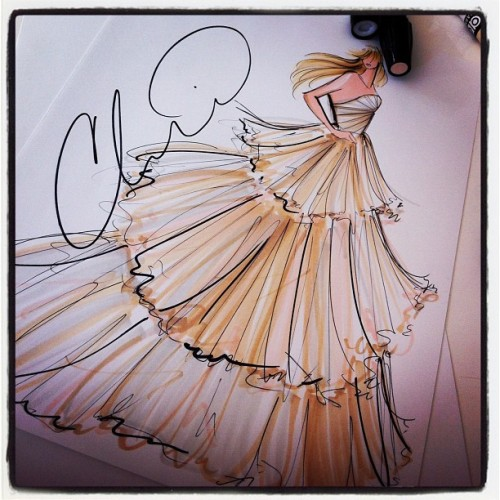 Bridal sketch for the our beautiful bride Geneva.  (Taken with Instagram)
