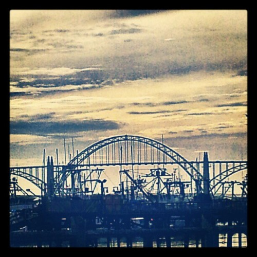 I miss #Newport! #Oregon #bridge #sky #horizon #coast #weather #instagram (Taken with Instagram)