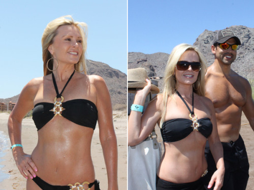celebuzz:  Real Housewives of O.C. star Tamra Barney debuts stunning bikini body without breast implants. Do you prefer Tamra with or without implants?