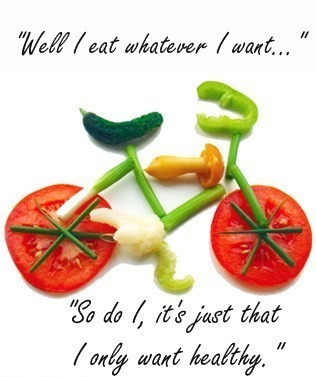 Healthy eating rules ok! :))