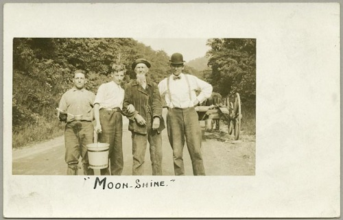 Moon-Shine (unidentified group portrait)Not datedLeo J. Beachy (1874-1927)Leo J. Beachy Photograph CollectionMaryland Historical SocietyPP235.474  The Leo J. Beachy Photograph Collection has recently been processed and is now available for research. Beachy, native to Garrett County, Maryland, mostly photographed the scenic rural life around him as well as people. The collection consists of 2,235 photographs housed in twenty-six boxes.