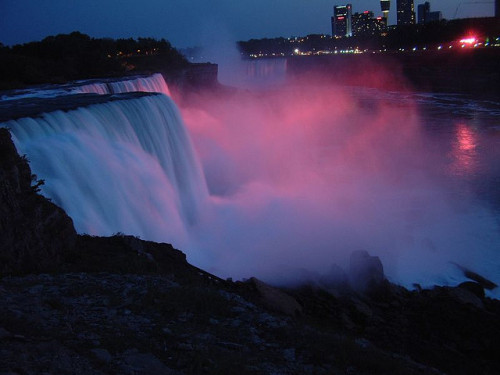 Niagara Falls at night by igorv on Flickr.