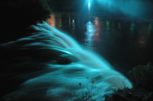 Niagara Falls at night by auroranova6 on Flickr.