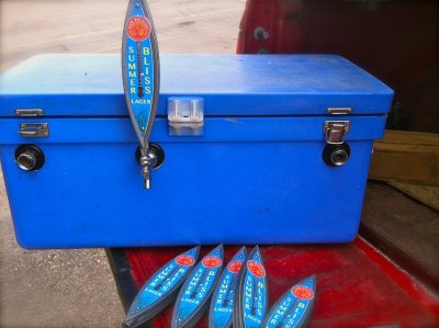 New Belgium Brewing Toolbox Tap  I found this gem on New Belgium's Facebook Page. They will be bringing these unique taps to the Telluride Bluegrass Festival.  Who wouldn't want to have a toolbox full of delicious New Belgium? S