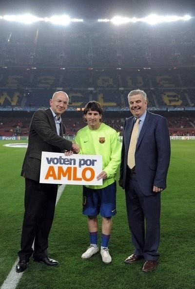 Messi haciendo campaña por AMLO