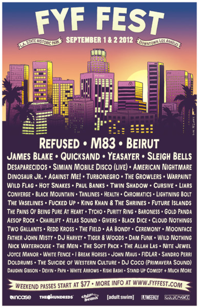fyffest:  TICKET GIVEAWAY FOR FYF FEST:  Reblog the poster for your chance to win a pair of weekend passes to the festival. Two winners will be picked at 12:00pm on Thursday, June 21st.  And remember that tickets for FYF Fest go on sale this Friday, June 22nd at 5:00pm. For more info on the fest click on the poster