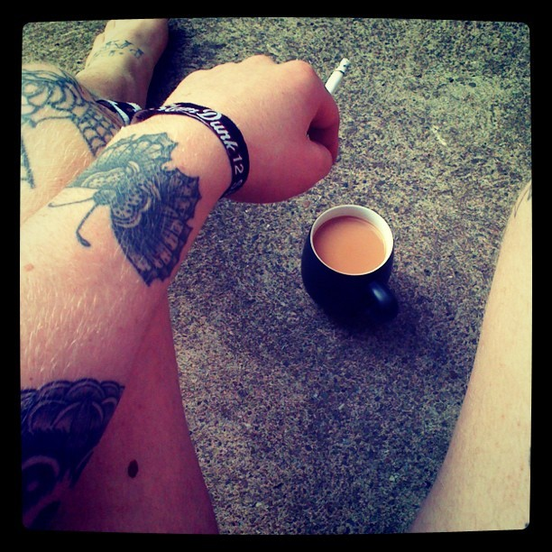 Cuppa and cigarette… Can't beat it  (Taken with Instagram)
