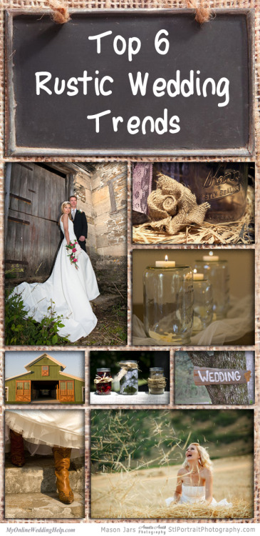Click to view the top 6 rustic wedding trends!