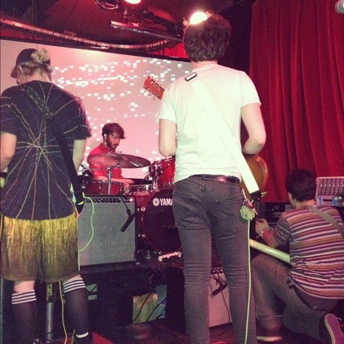 thisispocketz:  Anamanaguchi setting up for greatness #anamanaguchi #chiptune #whateverconvention #cantwait #tilnextshow #greatness (Taken with Instagram)