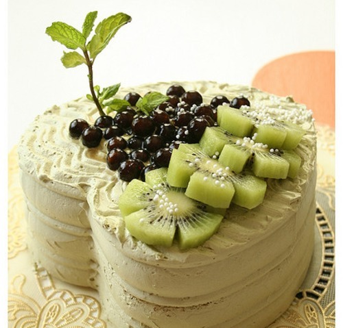 mochidesu:  Boba Green Tea Cake