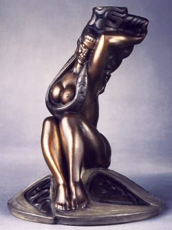 """Seated Maiden"", circa late 1940's - early 50's  By: STANISLAV SZUKALSKI"