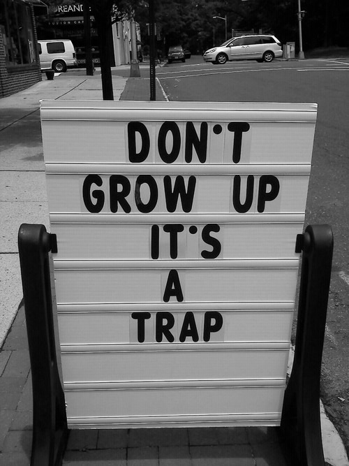 asthetiques:  DON'T GROW UP.