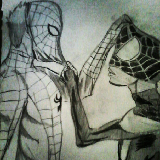 Peter and Miles #spiderman (Publicado com o Instagram)