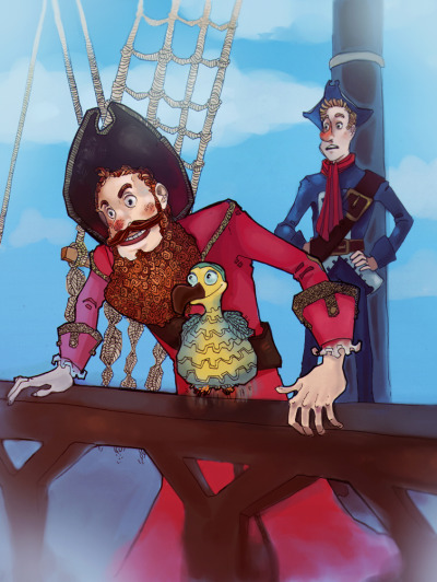Whoooooah, I full-colured art! Finally.Pirate Captain, may I sell my soul to you?