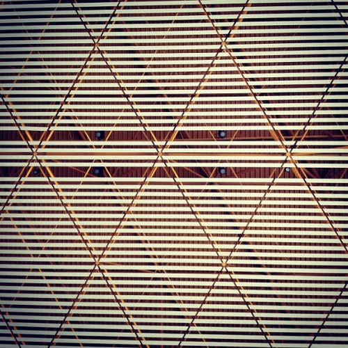 Ceiling #pattern at the #Beijing #Airport by #FosterandPartners #china #architecture #archdaily #instagood #iphonesia  (Taken with Instagram)