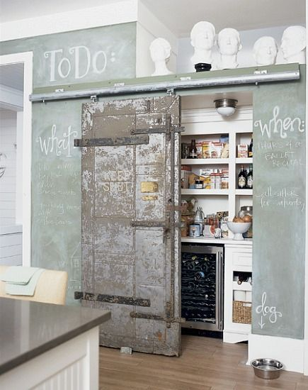 habitualbliss:  Chalkboard walls: this must be a do!!!!!