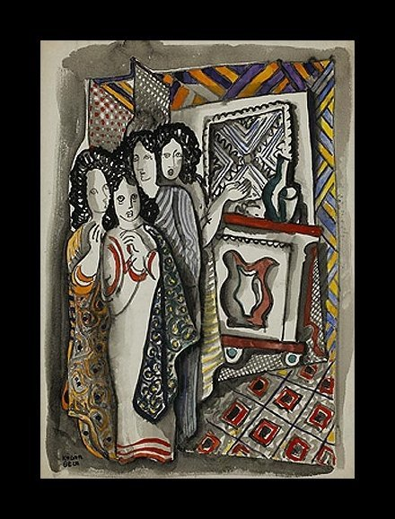 Four Women, by Bela Kadar (1877-1956)