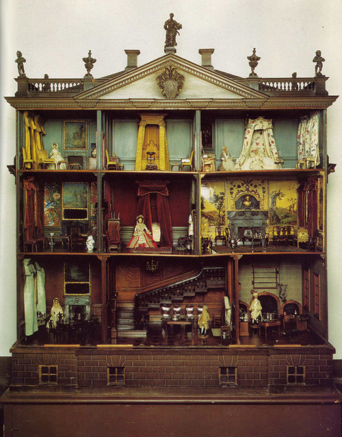 tothecabaret:  Gorgeous antique dollhouse I found on google. I don't know the source, sorry!