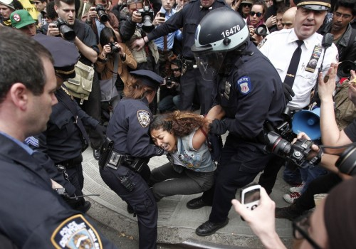 "U.S. ignores UN's demands to protect Occupy protesters (photo)June 20, 2012 The mishandling of peaceful protesters with the Occupy Wall Street movement will be discussed this week at the annual UN Human Rights Council meeting when two rapporteurs for the United Nations will make reports. Frank La Rue, the UN's special rapporteur for the protection of free expression, and Maina Kiai, the organization's special rapporteur for freedom of peaceful assembly, will present their reports at this week's meeting, the twentieth edition of the annual conference. Particularly in focus, though, will be how the United States government has failed to act on requests made by the two experts during the last year to address growing concerns over how law enforcement has acted towards the Occupy movement. In one letter sent from the envoys to US Secretary of State Hillary Clinton, the rapporteurs urge the Obama administration to ""explain the behavior of police departments that violently disbanded some Occupy protests last fall."" Elsewhere they say that they've been concerned that excessive force waged on protesters ""could have been related to [the protesters'] dissenting views, criticisms of economic policies, and their legitimate work in the defense of human rights and fundamental freedoms."" Despite sending that letter to Secretary Clinton more than six months ago, neither rapporteurs has not been offered a response yet, reports Huffington Post. A spokesperson for the State Department tells HuffPo that ""the US will be replying,"" but declined offering any other details. ""We do not comment on the substance of diplomatic correspondence,"" the spokesperson responded, differing questions elsewhere. ""The Department of Justice's Civil Rights Division is the lead agency for violations of human rights or civil rights in the United States,"" wrote the spokesperson, sending the UN experts to them for an answer, half a year after they asked for assistance. With hundreds of arrests being chalked up to the Occupy movement and countless accounts of police brutality reported already, however, it is sending a clear message to some that the White House isn't all that concerned over how local law enforcement agencies are interacting with protesters.  Lack of an answer does not make the US look good in the international community,"" American Civil Liberties Union Director Jamil Dakwar tells Huffington Post.""The US should at a very minimum respond to a letter like this,"" he says. ""And if they believe that law enforcement agencies operated under legal, constitutional authority and there were no problems, then they should explain that and present that"" before the Human Rights Council. Source"