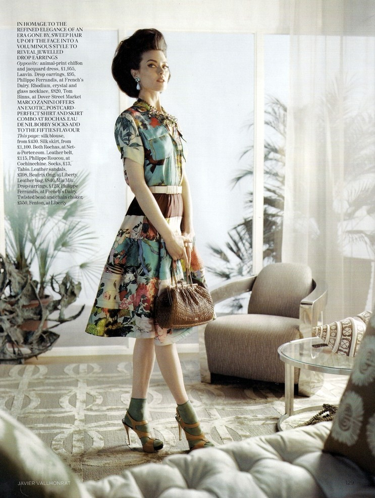 Shalom Harlow Photographed by Javier Vallhonrat for Vogue UK June 2010