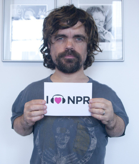(via Peter Dinklage Loves NPR : This Is NPR : NPR)