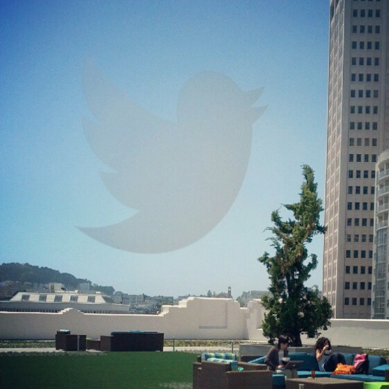 Twitter bird in the sky, thanks to Danny Sullivan.